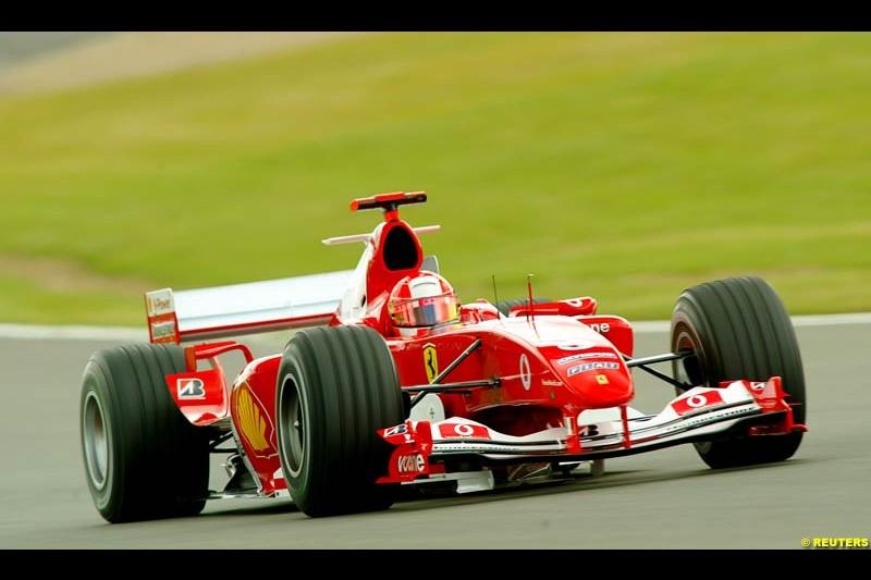 Michael Schumacher, Ferrari, British GP, Friday July 9th, 2004.