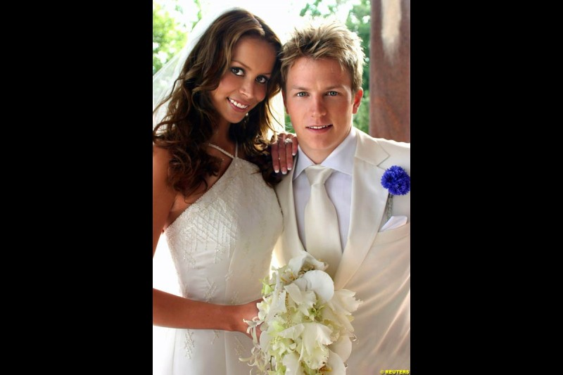 Kimi Raikkonen marries Jenni Dahlman, Saturday July 31st, 2004.