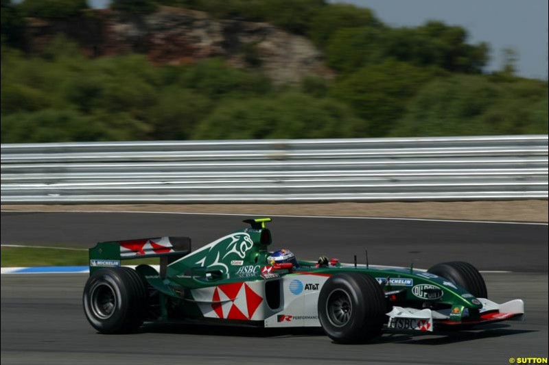 Christian Klien, Jaguar, Jerez testing, Friday July 16th, 2004.