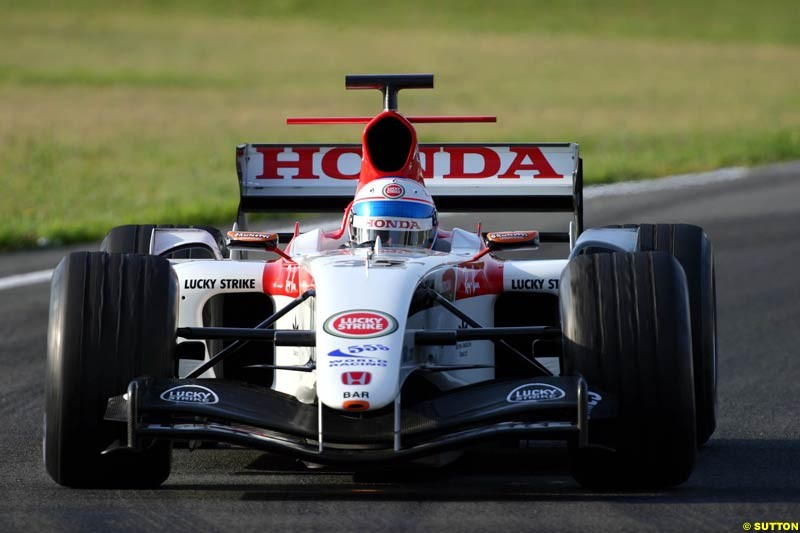 Anthony Davidson, BAR-Honda, Jerez testing, Friday July 16th, 2004.