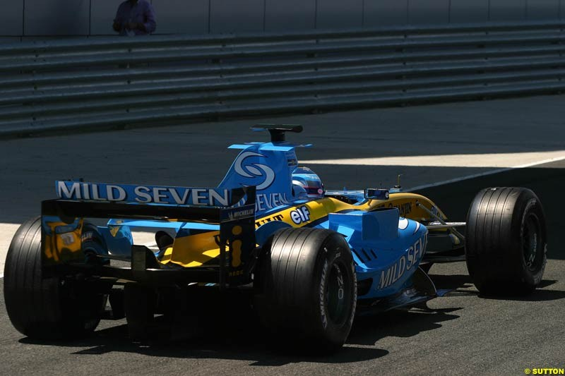 Franck Montagny, Jerez testing, Wednesday July 14th, 2004.