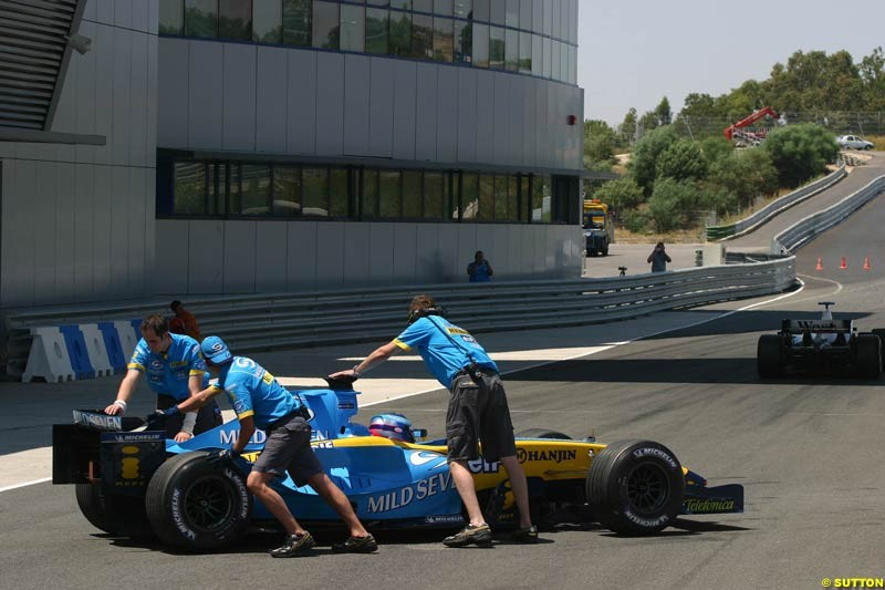 Franck Montagny, Renault, Jerez testing, Wednesday July 14th, 2004.