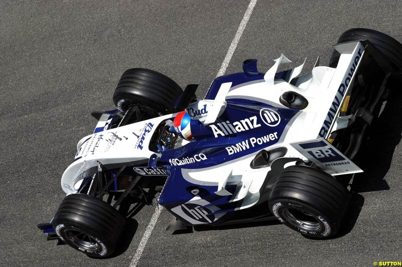 Marc Gene, BMW-Williams, Jerez testing, Wednesday July 14th, 2004.