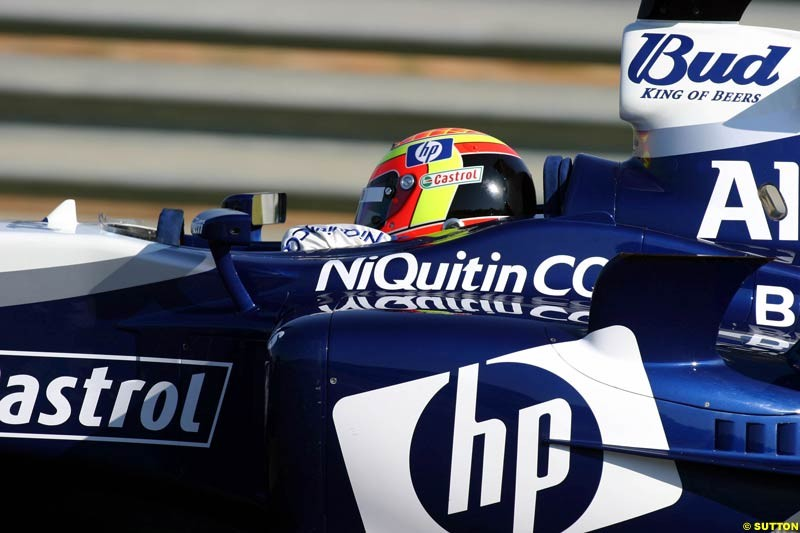 Antonio Pizzonia, BMW-Williams, Jerez Testing, Wednesday July 14th, 2004.