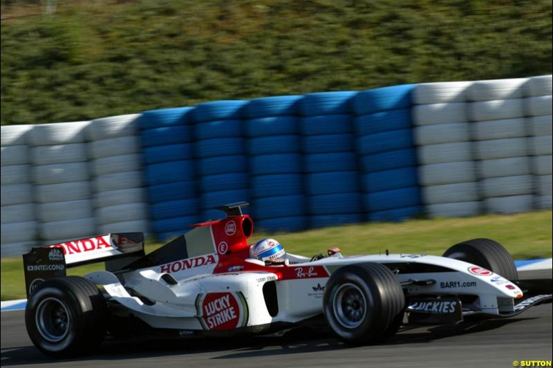 Anthony Davidson, BAR-Honda, Jerez testing, Wednesday July 14th, 2004.