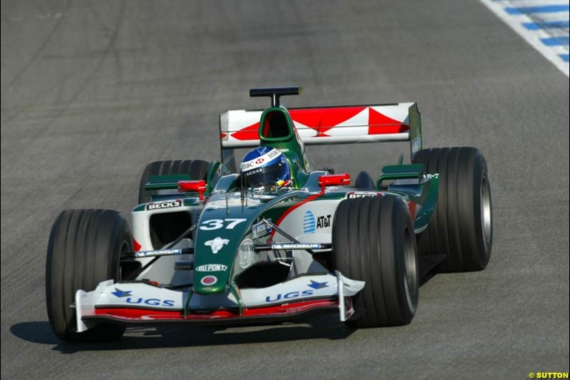 Bjorn Wirdheim, Jaguar, Jerez testing, Wednesday July 14th, 2004.