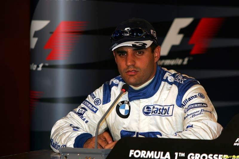 Juan Pablo Montoya, German GP, Saturday July 24th, 2004.