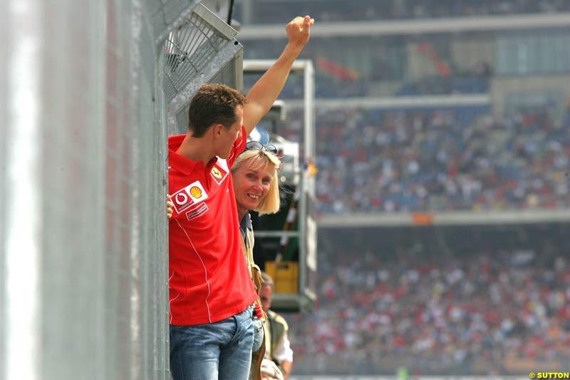 Michael Schumacher, German GP, Saturday July 24th, 2004..
