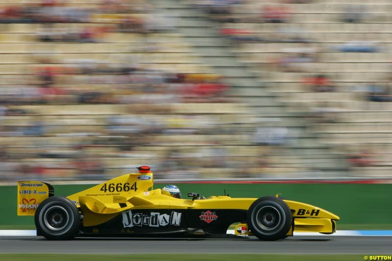 Nick Heidfeld, Jordan-Ford, German GP, Saturday July 24th, 2004.