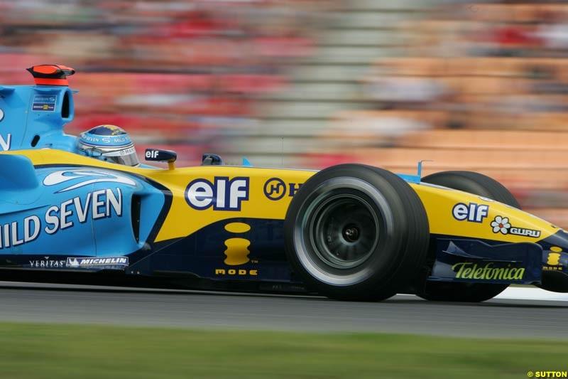 Jarno Trulli, Renault, German GP, Saturday July 24th, 2004.