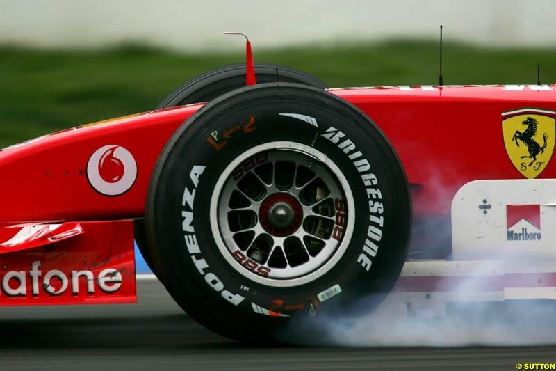 Ferrari, German GP, Saturday July 24th, 2004.