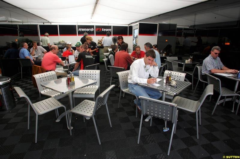 Minardi, German GP, Saturday July 24th, 2004.