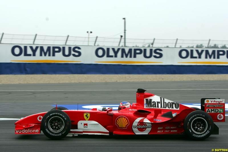Rubens Barrichello, Ferrari, German GP, Saturday July 24th, 2004.