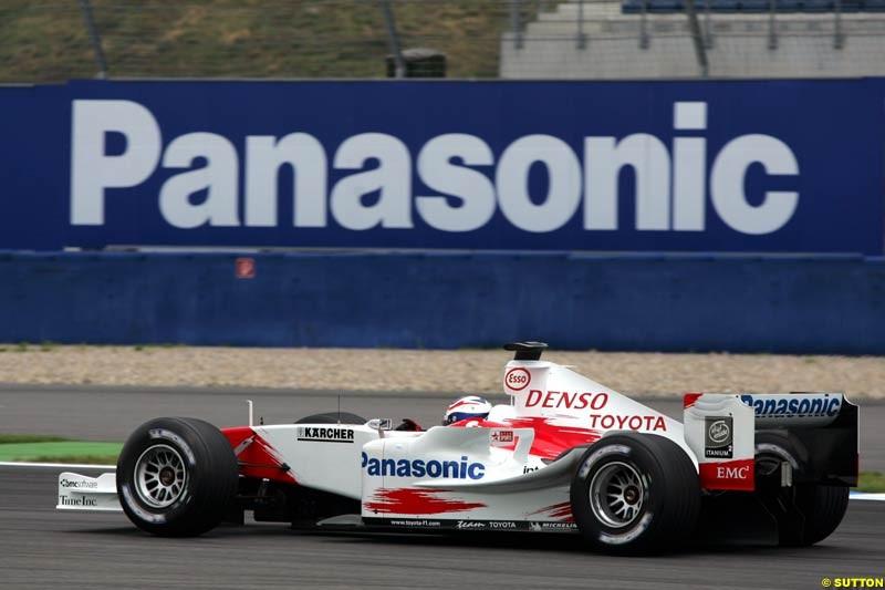Olivier Panis, Toyota, German GP, Saturday July 24th, 2004.