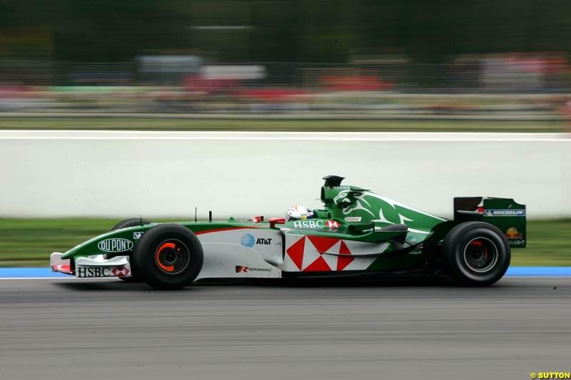 Christian Klien, Jaguar, German GP, Saturday July 24th, 2004.