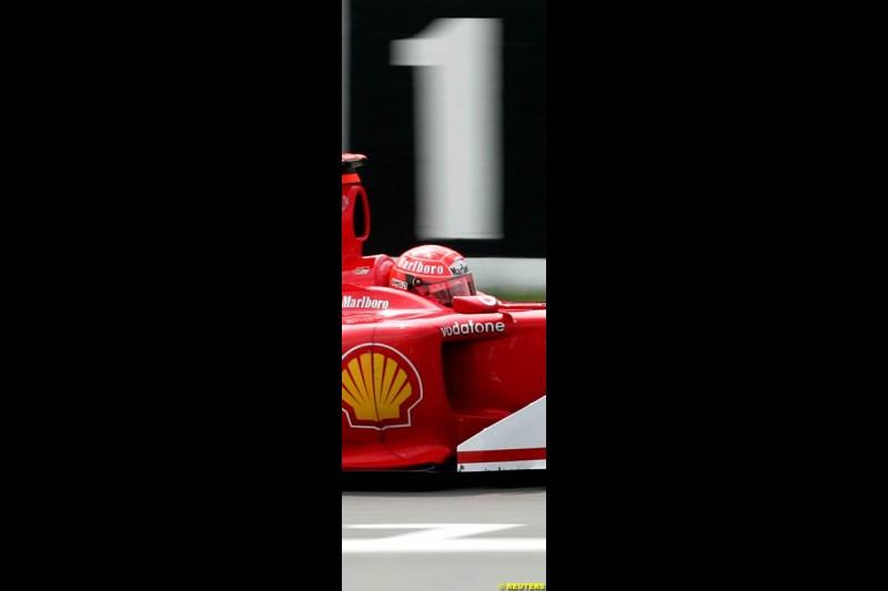 Michael Schumacher, Ferrari, German GP, Saturday July 24th, 2004.