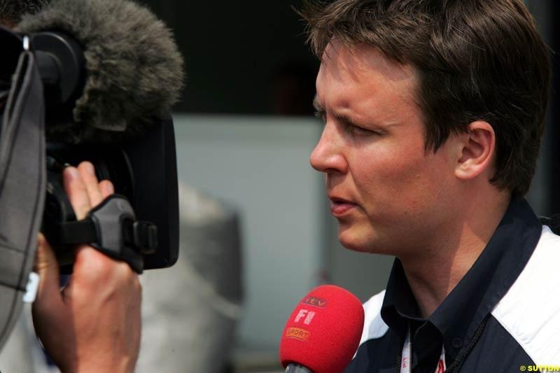 Sam Michael, German GP, Saturday July 24th, 2004.