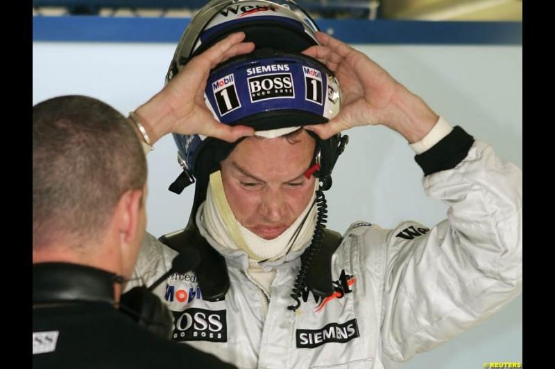 David Coulthard, German GP, Saturday July 24th, 2004.