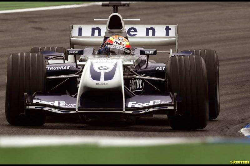 Antonio Pizzonia, Williams. German Grand Prix, Hockenheim, July 24th, 2004.