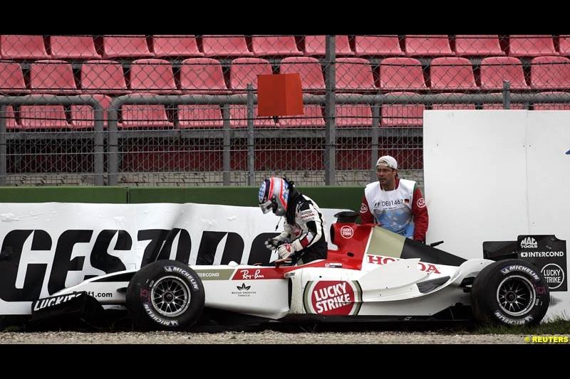 Takuma Sato, BAR. German Grand Prix, Hockenheim, July 24th, 2004.
