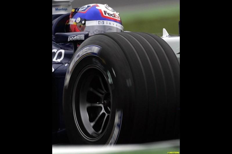 Juan Pablo Montoya, Williams. German Grand Prix, Hockenheim, July 24th, 2004.