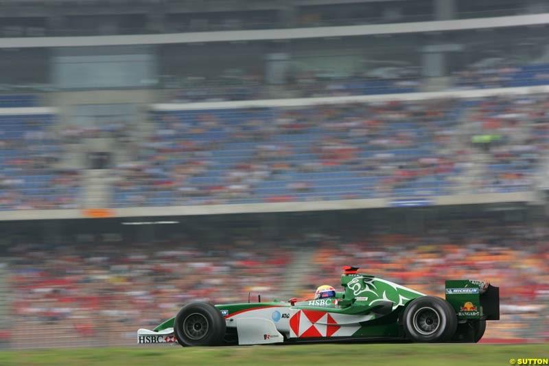 Mark Webber, Jaguar, German GP, Saturday July 24th, 2004.