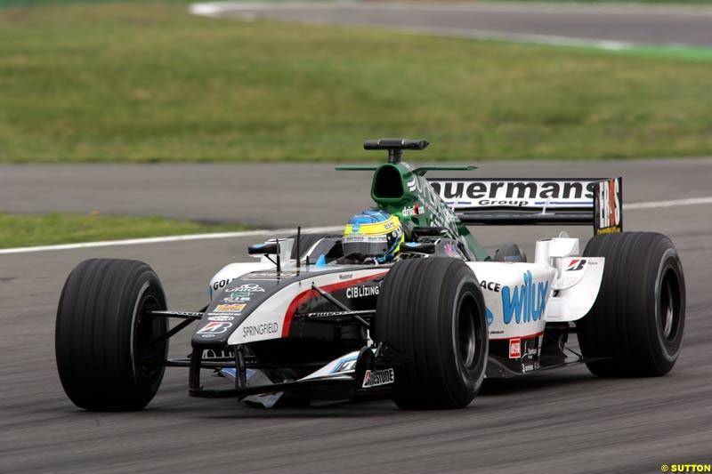 Zsolt Baumgartner, Minardi-Cosworth, German GP, Saturday July 24th, 2004.