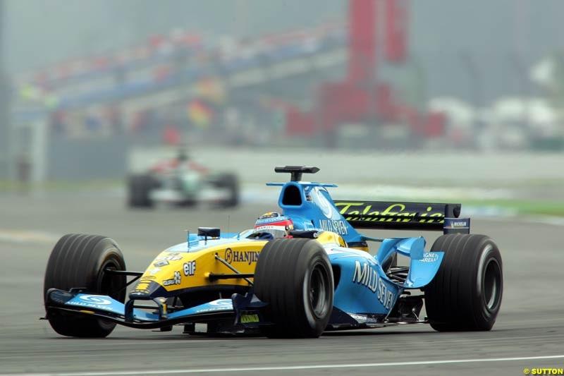 Fernando Alonso, Renault, German GP, Saturday July 24th, 2004.