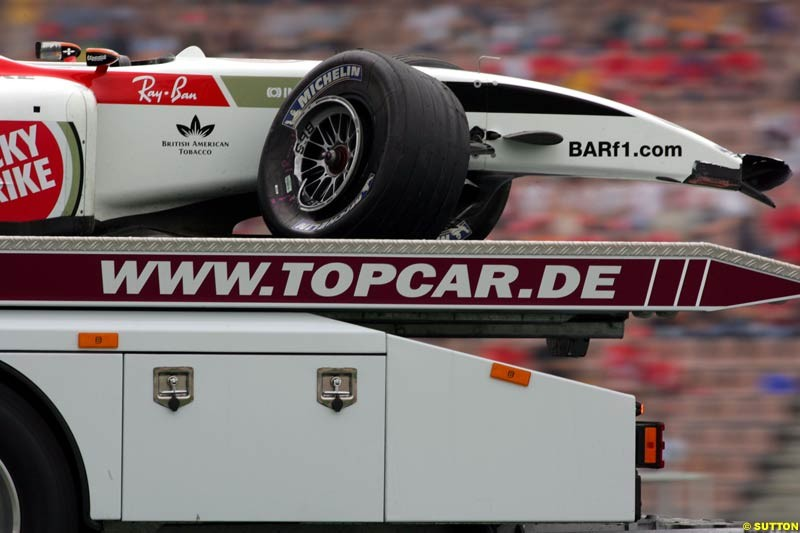 BAR-Honda, German GP, Saturday July 24th, 2004.