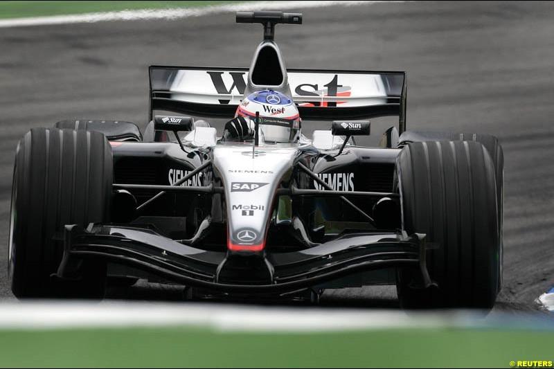 Kimi Raikkonen, Mclaren-Mercedes, German GP, Saturday July 24th, 2004.