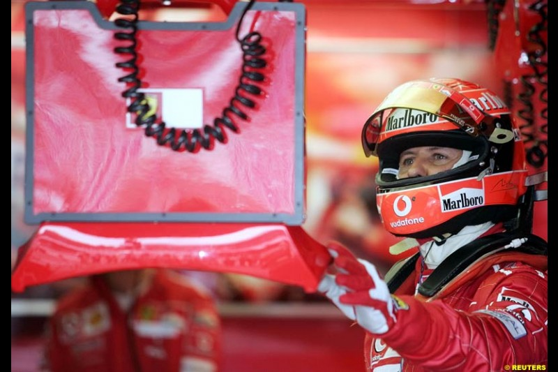 Michael Schumacher, German GP, Saturday July 24th, 2004.