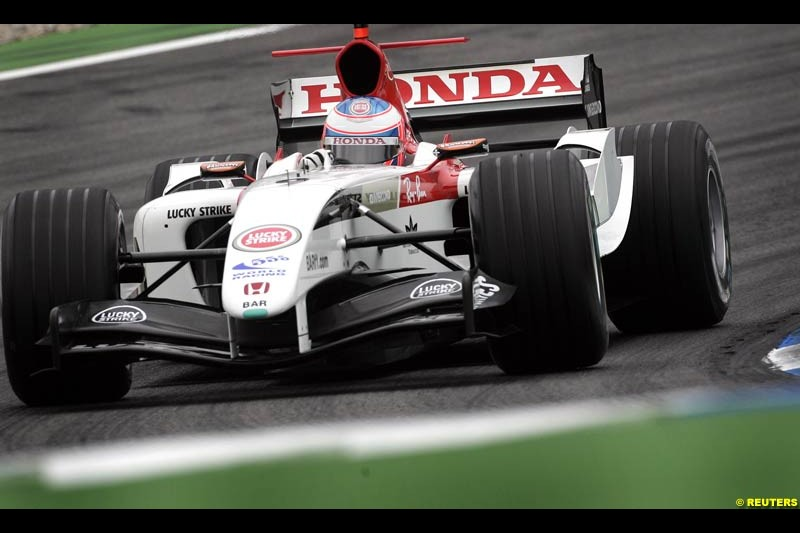 Jenson Button, BAR-Honda, German GP, Saturday July 24th, 2004.