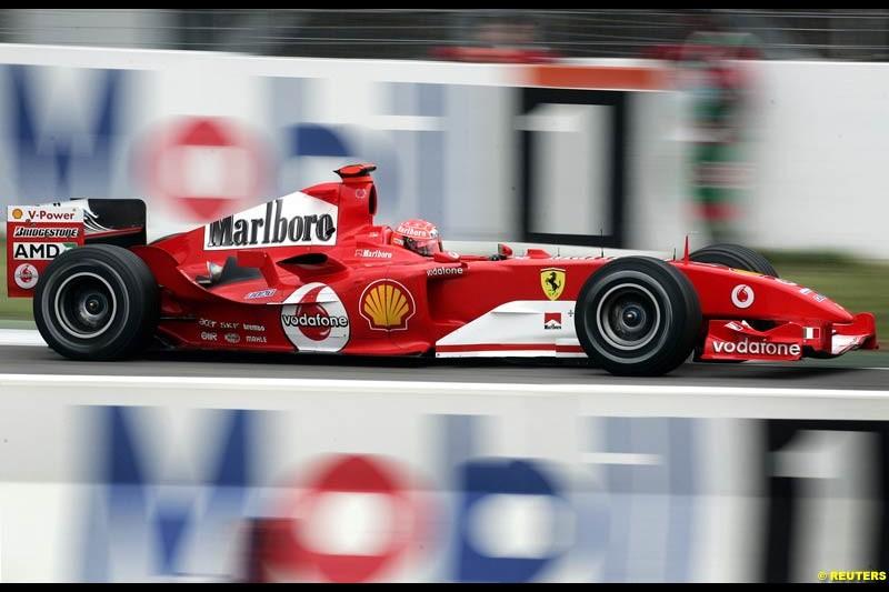 Michael Schumacher, Ferrari. German Grand Prix, Hockenheim, July 24th 2004.