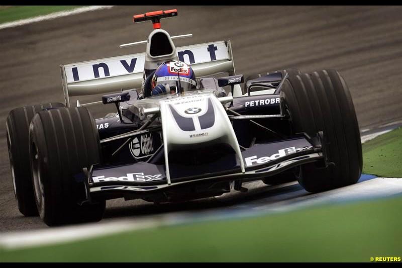 Juan Pablo Montoya, Williams. German Grand Prix, Hockenheim, July 24th 2004.