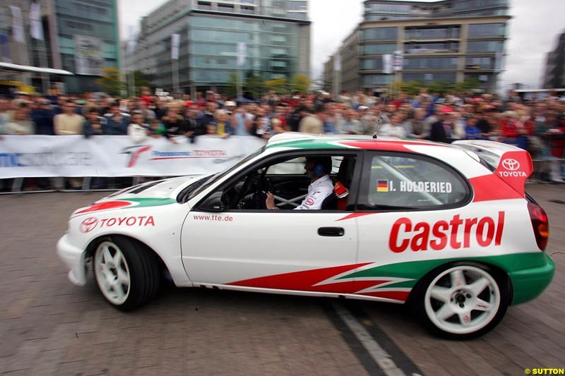 Toyota Corolla WRC, Toyota City Grand Prix, Cologne, Germany; August 22nd, 2004.