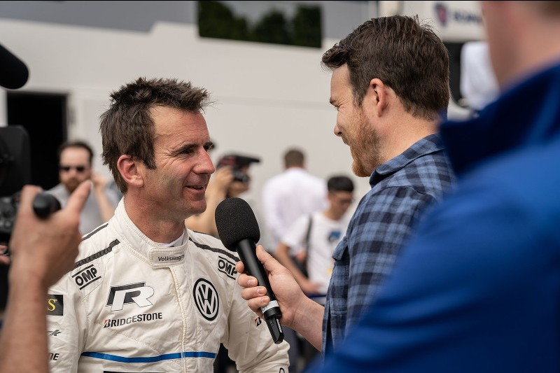 Dumas speaks to the press after VW's record-breaking win