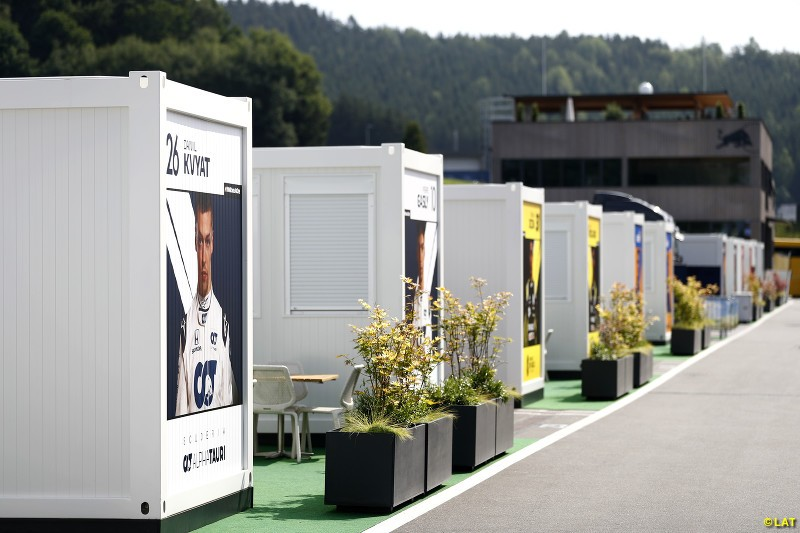 Austrian GP paddock atmosphere 2020