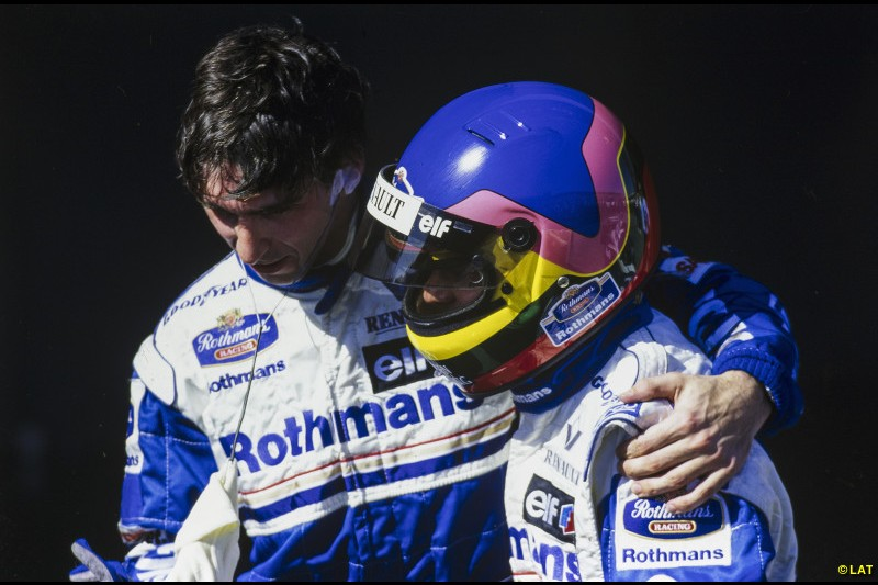 Hill endures a disastrous 1995 which means his contract isn't renewed beyond 1996. But with new team-mate Jacques Villeneuve - son of Gilles - pushing him all the way, Hill scores eight victories in '96 and becomes the first son-of-a-world champion to emulate his father. Williams' sixth different champion takes the number one with him to Arrows in 1997.