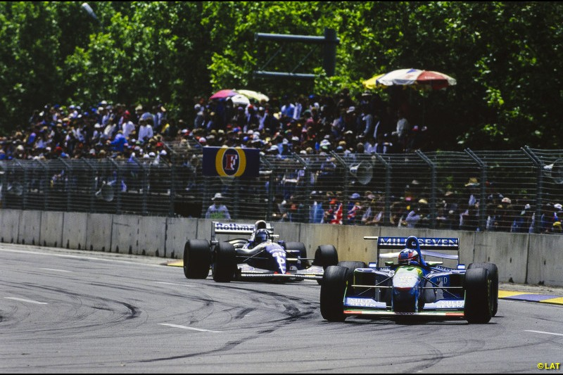 When Prost retires, Senna at last gets his move to Williams for 1994, but his tragic death at Imola leaves Hill to take the challenge to Benetton's Michael Schumacher. It comes down to a final round showdown in Adelaide, and a controversial collision gives Schumacher the title, although Williams takes the constructors' title.