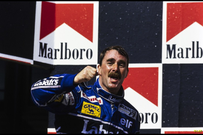 Mansell and the Williams FW14B are utterly dominant in 1992, winning the first five races in a row and allowing Mansell to canter to the title, which he clinched with second at the Hungarian GP.