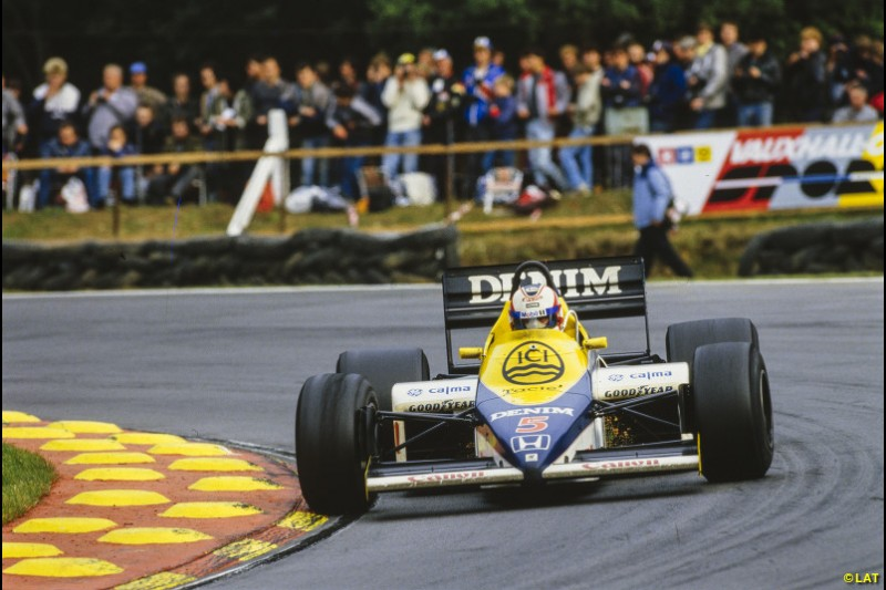 Nigel Mansell was signed from Lotus for 1985, partnering Rosberg. The Finn beat him in the title standings before heading to McLaren, but Mansell - who scored a long-awaited first win at Brands Hatch - would be the team's future.