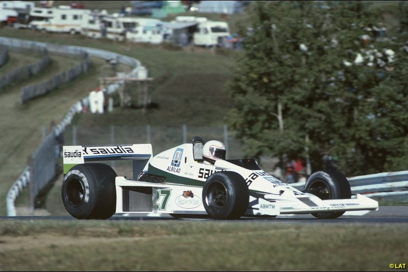 For 1978, Patrick Head produced the Williams FW06, which turned the team into a major player for the first time. Alan Jones was signed from Shadow as the lead driver, and scored its maiden podium with second at Watkins Glen.