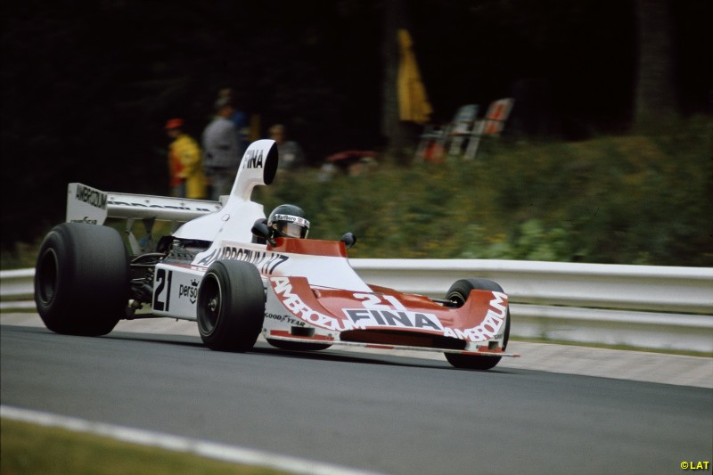 Williams cars continued to be named after sponsors until 1975, when the Williams FW04 was built. Jacques Laffite scored its first podium at the Nurburgring in 1975.