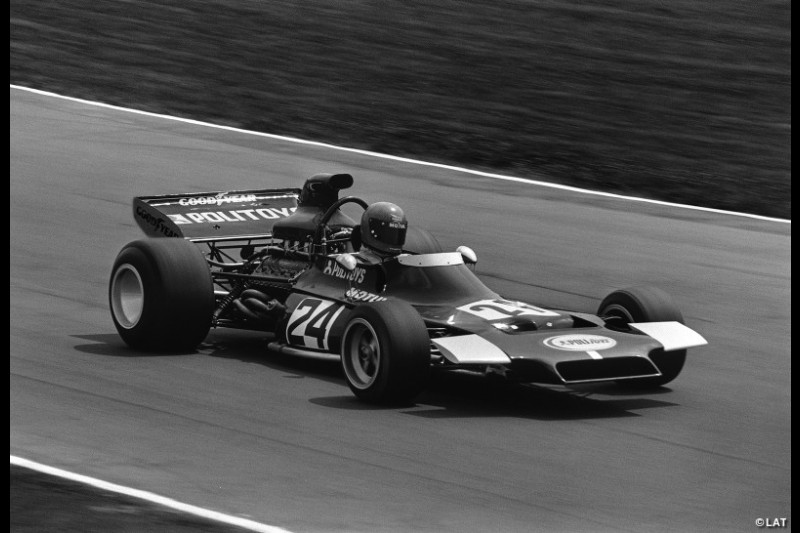 Williams first became a constructor in 1972. Here, Henri Pescarolo is pictured driving the Politoys FX3, named in deference to its Italian toy manufacturer backer, at Brands Hatch.