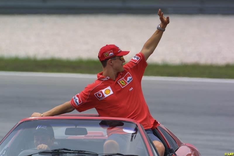 2002 Malaysian Grand Prix - Race day. Sepang, Malaysia, 16th March 2002.