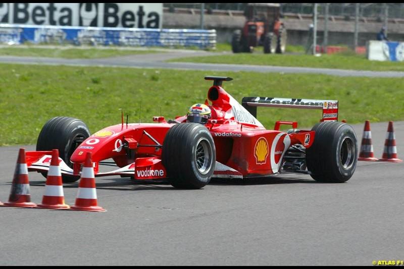 Luciano Burti, 2002 Formula One Testing, Monza, Italy. 16-18 April 2002.