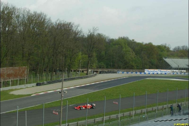 Luciano Burti, 2002 Formula One Testing, Monza, Italy. 16th April 2002.