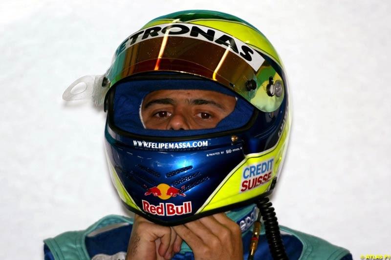 Felipe Massa, Sauber, 2002 Formula One Testing, Valencia, Spain. 02-04 April 2002.