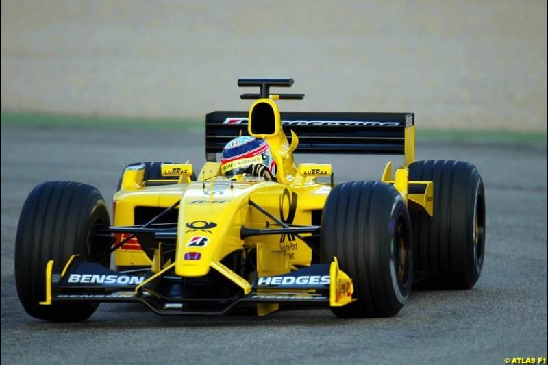 Takuma Sato, Jordan, 2002 Formula One Testing, Valencia, Spain. 02-04 April 2002.