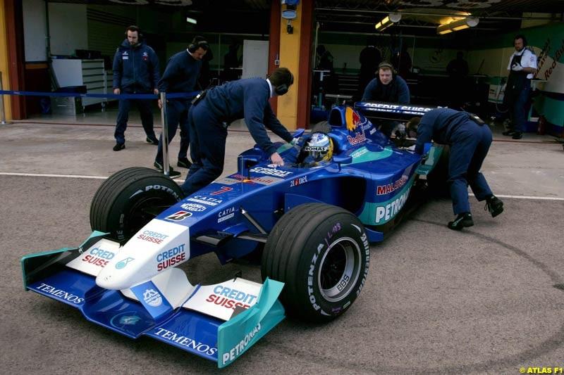 Nick Heidfeld, Sauber, 2002 Formula One Testing, Valencia, Spain. 02-04 April 2002.